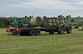 John Deere 6910 loading hay bales, JCB Fastrac and trailer.jpg