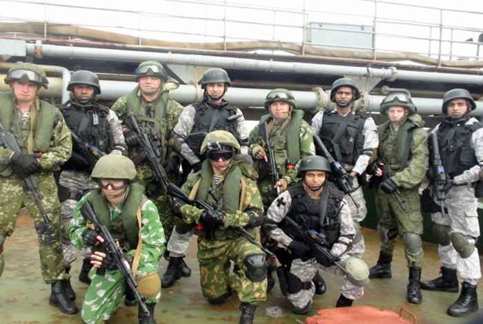 Joint Indian %26 Russian VBSS Team INDRA 14