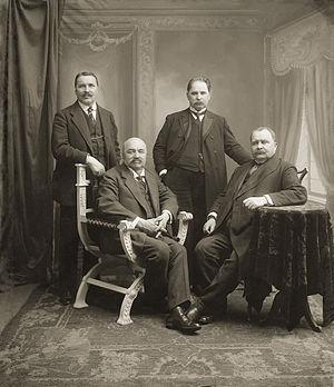 Jonas Vileišis - Jonas Vileišis with his brothers (standing, first from left)