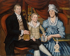 Portrait of George Eliot and Family