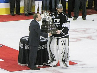 Jonathan Quick - Quick was awarded the Conn Smythe Trophy following the Kings' victory in the 2012 Stanley Cup Finals.