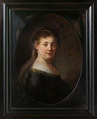 Jonge vrouw in gefantaseerde kleding Rijksmuseum SK-A-4057.jpeg