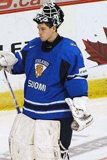 Joni Ortio Finnish ice hockey player