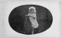 Joyce Matthews as a small girl on a rocking horse, circa 1910 ATLIB 337394.png