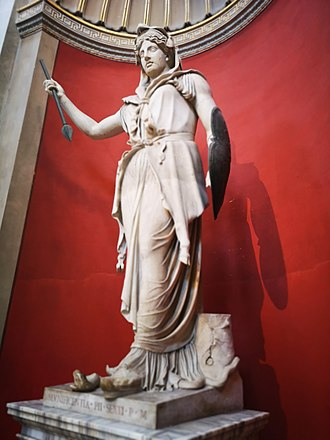 Juno (mythology) - Juno Sospita, a plaster cast based on an original in the Vatican Museums