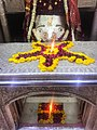 Just before Aarti time Temple inside pic with Goddess Maa Kalka Ji.jpg