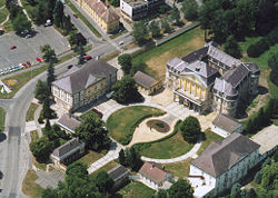 Aerial view of the palace