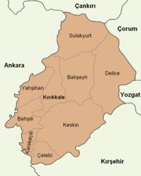 Kırıkkale location districts.png