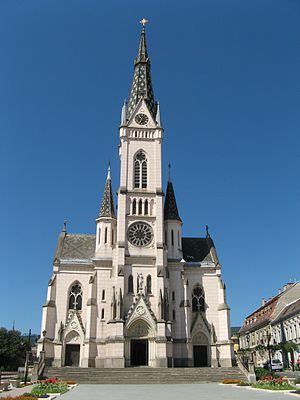 Gothic Revival architecture - Sacred Heart Church, Kőszeg, Hungary, 1892–1894