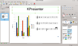 KOffice - Image: K Presenter 2.3