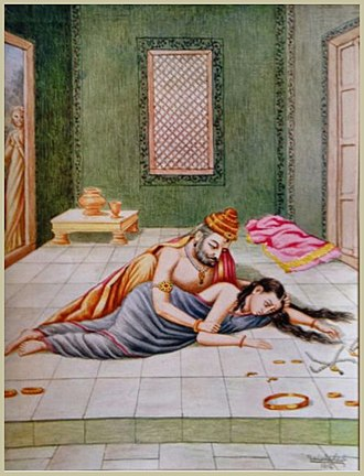 Kaikeyi - Kaikeyi told Dasharatha that he must fulfill her wish.