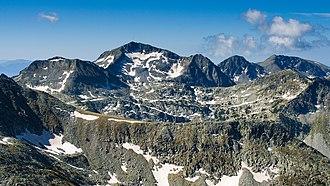 Glacial landform - Kamenitsa Peak glacial erosion in Pirin Mountain, Bulgaria