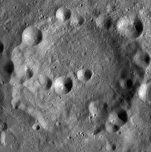 Kamerlingh Onnes (crater) - Image: Kamerlingh Onnes crater WAC