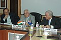 Kapil Sibal addressing at the signing ceremony of a Strategic R&D Partnership agreement for joint research activities focusing on sustainability issues as a part of the overall Australia-India Strategic Research Programme.jpg