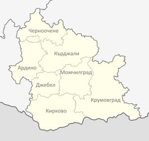 Kardzhali Province - Municipalities in Kardzhali province