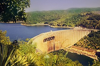 Kariba Dam - The dam as seen from Zimbabwe