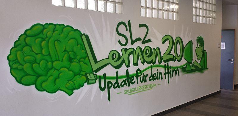 File:Karl-Schiller-Berufskolleg Dortmund, Graffito Selbstlernzentrum.jpg