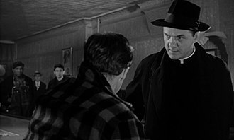 Karl Malden - Malden with Marlon Brando in the trailer for On the Waterfront (1954)