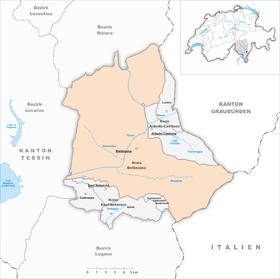 Map of Bellinzona