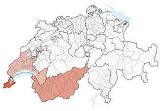 Lake Geneva region - Image: Karte Genferseeregion 2013.2