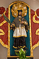 Kath Pfarrkirche Rastenfeld - Figur hl Johannes Nepomuk.jpg