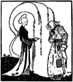 Kay Nielsen - East of the sun and west of the moon - the lassie and her godmother.png