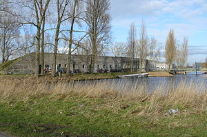 Stelling van Amsterdam - Fort south of Spaarndam.