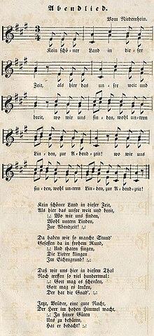 Deutsche Weihnachtslieder Texte Zum Ausdrucken.Kein Schöner Land In Dieser Zeit Wikipedia
