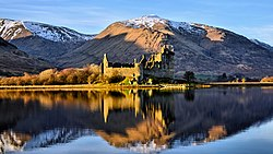 Kilchurn Castle reflected on Loch Awe