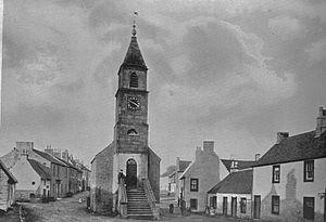 Kilmaurs - The Jougs in 1900.