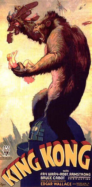The Black Island - Poster for the 1933 film King Kong, whose protagonist would serve as Hergé's inspiration for Ranko