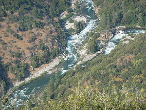 Kings River (California) - The Middle and South forks of the river converge to form the main Kings River.