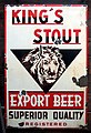 Kings Stout enamel beer advertising sign.JPG