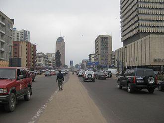 Timeline of Kinshasa - Image: Kinshasa, Boulevard du 30 juin 20090701