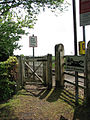 Kissing gate at level crossing - geograph.org.uk - 1305988.jpg