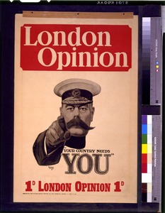 The 5 September 1914 London Opinion Magazine Cover That Inspired Posters Caption Reads Your Country Needs You