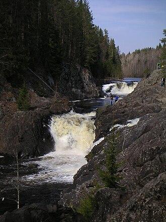 Suna River - Kivach Waterfall on Suna.