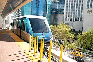 Metromover - A Metromover train at Knight Center