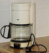 Koffiezetapparaat, model uit ongeveer 1985