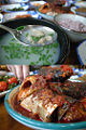 Korean cuisine-Jaecheopguk and godeungeo jorim.jpg