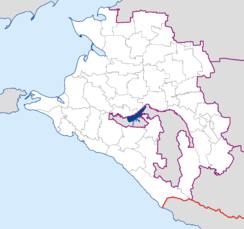 Sochi is located in Krasnodar Krai