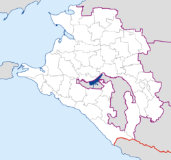 Primorsko-Akhtarsk is located in Krasnodar kraj