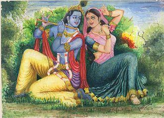 Gulal - Krishna and Radha