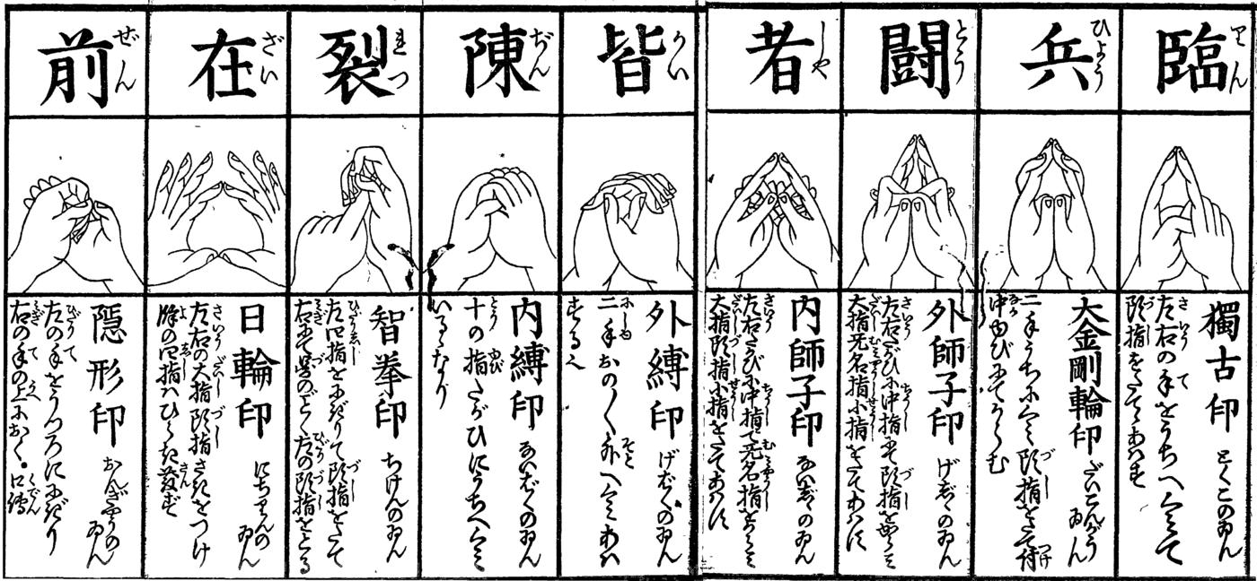 kuji in ninja 9 hand seals kanji bracelet silver 14mm khachara
