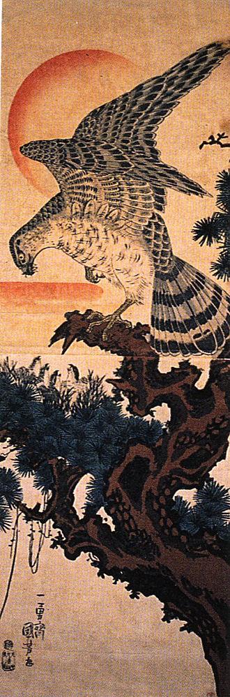 Utagawa Kuniyoshi - Hawk, woodblock print