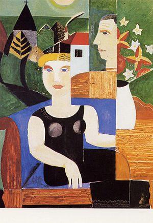 Gustave De Smet - Image: L'artiste et sa femme, Deurle,1927, G.de Smet