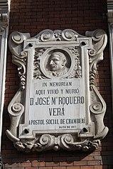 Lápida conmemorativa de José María Roquero Vera