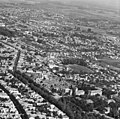 Légifotó, előtérben jobbra a Szent Rókus Kórház, fölötte a Rókus temető, ezektől balra a Rókus utca. Fortepan 76719.jpg