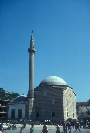 Lead Mosque, Berat - Image: LEAD MOSQUE IN DOWNTOWN BERAT, ALBANIA