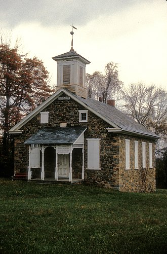 Lower Saucon Township, Northampton County, Pennsylvania - Lutz-Franklin School, built 1880